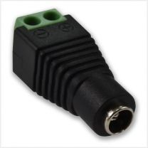 Pack of 100 Female DC Connectors, DC2.2-O
