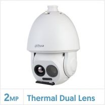 Dahua Thermal Network Hybrid Speed Dome Camera (25mm Thermal Lens, 640x512 Vox, Fire Detection and Temperature Measurement), TPC-SD8621P-TB25Z45