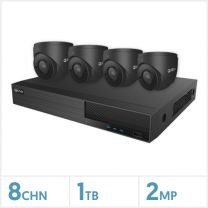 Viper NVR Kit - 8 Channel 2TB Recorder with 4 x 2MP Fixed Turret Cameras (Grey), VKIT-2MP-4E-G
