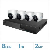 Viper NVR Kit - 8 Channel 1TB Recorder with 4 x 2MP Fixed Turret Cameras (White), VIPER-NVR-8-4KIT-2MP