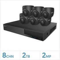 Viper NVR Kit - 8 Channel 2TB Recorder with 6 x 2MP Fixed Turret Cameras (Grey), VKIT-2MP-6E-G